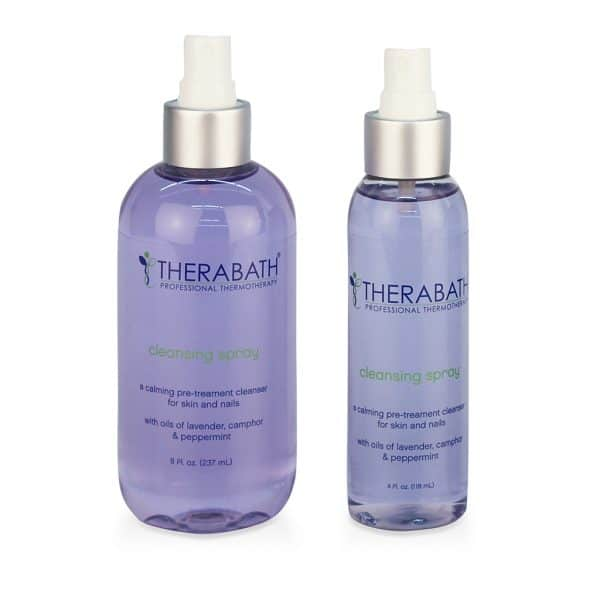 Therabath Pre-Treatment Cleansing Spray Sizes