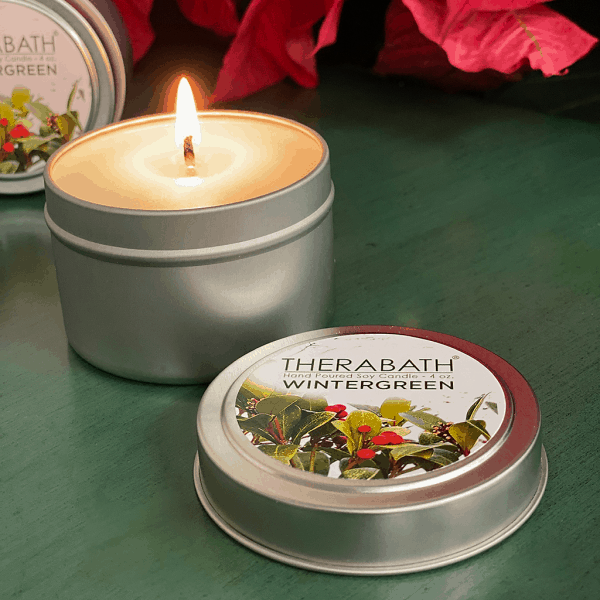 Therabath Wintergreen Soy Candle