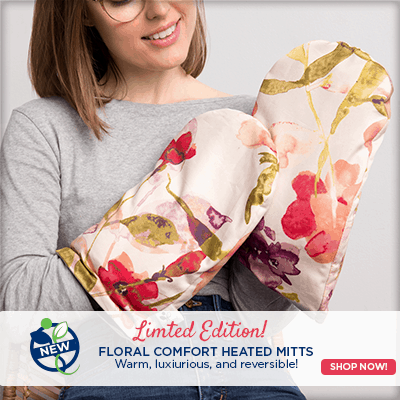 Limited Edition Floral Comfort Heated Mitts